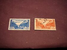 Lebanon Stamp Scott# C147a,C147b Bay of Jounie 1949   C297