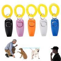 Pet Trainer Clicker Pet Dog Cat Whistle Training Sound Key Ring Wrist Strap