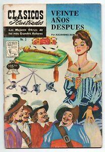 CLASICOS ILUSTRADOS #3 Veinte Años Después, La Prensa Mexican Comic 1973