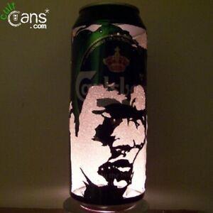 Bruce Lee Beer Can Lantern! Enter The Dragon Kung Fu Pop Art Portrait Lamp