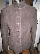 NWT CHADWICK'S WOMEN'S BROWN SUEDE LEATHER JACKET BLAZER 10 -Gorgeous! Lined NEW