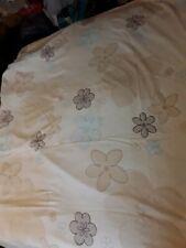 Single duvet set beige blue neutral colours floral reversible