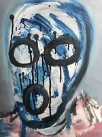 Hasworld Original Painting Abstract Expressionist Contemporary Street Graffiti
