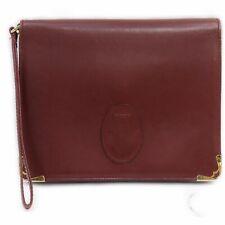 Cartier Clutch  Bordeaux Leather 1005501