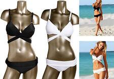 Stylish Bandage Wrap Around Bikini Top Swimsuit Swimwear Fold Over Bottom Women