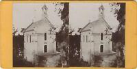 Cappella Fontgombault Nel Indre Francia Foto Stereo Vintage Citrato c1900