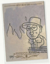Indy's Dad Indiana Jones Masterpieces 2008 Topps Sketch Card by Jon Morris 1/1