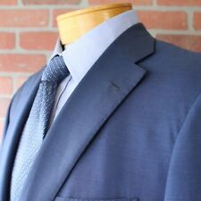 Brioni Blue Mohair Wool Blazer Sportcoat Mother of Pearl Buttons Italy 56EU
