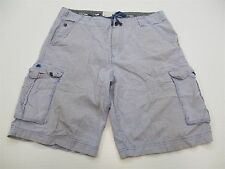 WRK MATERIALS SH5673 Women's Size 36 Casual Pinstripe Cotton Cargo Shorts