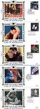 Conjunto de 16 de abril 1996 de cine Benham todos 5 cubiertas de primer día de seda pequeño especialista Shs