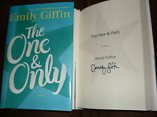 Emily Giffin signed The One & Only 1st printing hardcover book