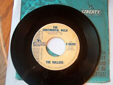 ROLLERS=LIBERTY 55320 PROMO DOO-WOP 45 THE CONTINENTAL WALK VG+ PLAYS GREAT