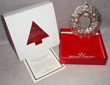 1994 Wallace 1st Sterling Silver Wreath Christmas Ornament Decoration Harvest