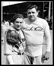 Babe Ruth Rabbit Maranville Autographed Repro Photo - 1935 Boston Braves