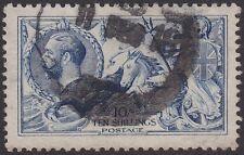 SG 411 N70 (3)10/- Deep Blue (Worn Plate) De La Rue Seahorse in VFU, dated CDS.