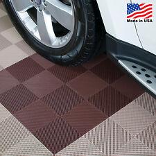 EZ DIY Garage Floor Tiles |Perforated Tiles Brown - USA MADE