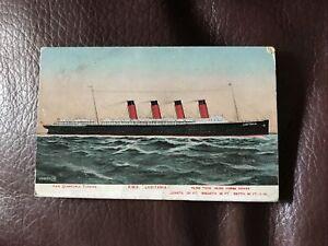 Vintage Postcard - R M S Lusitania Plus Details Of Ship - 1908 - D12