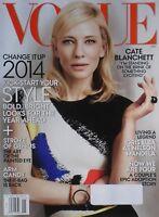 CATE BLANCHETT January 2014 VOGUE Magazine IDRIS ELBA / POPPY DELEVINGNE