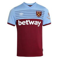 WEST HAM UNITED FC FOOTBALL CLUB HOME SHIRT PREMIERSHIP 2019-2020 MENS UMBRO