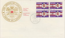 CANADA #736 12¢ ORDER OF CANADA BLOCK FIRST DAY COVER