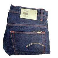 G Star Raw 3301 Mens Sz W33 L32 Blue Denim Buttonfly Straight Jeans