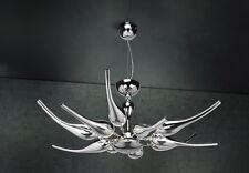 Lampadario contemporaneo design moderno cromato e vetro coll. BELL ego 1805/L80
