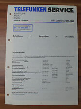 HIFI-Verstärker HA880 Telefunken Serviceanleitung Service Manual