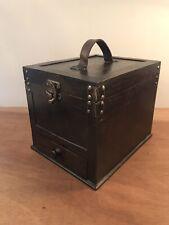 Vintage Mahogany Tabletop Storage Collectors Cabinet