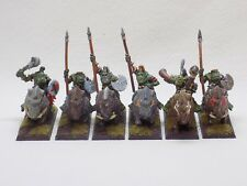 Orc & Goblins metal Savage Orc Boar Boyz x6 Well Painted Oldhammer Citadel 51488