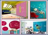 Vernice Effetto Lavagna 250ml Vari Colori gioco bambini casa muro parete disegno