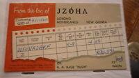 OLD VINTAGE QSL HAM RADIO CARD POSTCARD, SORONG NETHERLANDS NEW GUINEA 1960