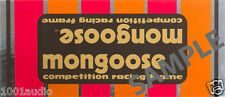 Motomag II - Mongoose old school BMX decals