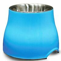 Dogit 2-in-1 Elevated Dish/Bowl, Blue, 900 ml Capacity