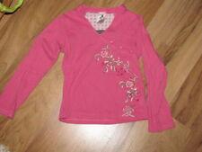 Langarm Mädchen-Tops, - T-Shirts & -Blusen mit V-Ausschnitt und Motiv