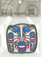 Native Art Souvenir  Patch Eagle Raven