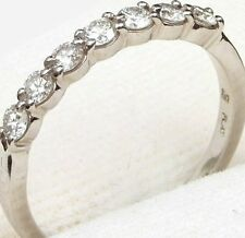 LIKE NEW 7 Diamond VVS VS1 Platinum Wedding Anniversary Band .70 Carat