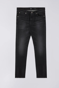 Edwin ED-85 Slim Tapered Drop Crotch Jeans  Black - kahori wash