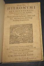 1617 San Hieronymus, De hæresibus Iudæorum, Giudaica, PRIMA EDIZIONE