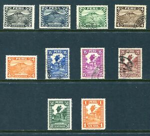 Peru 1932 - 1934 Used and Unused Lot with #316