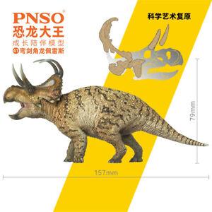 PNSO Machairoceratops Figure Ceratopsidae Bent Swords Dinosaur Collector Model