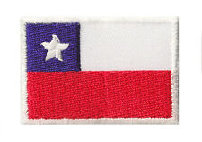 Ecusson petit badge transfert drapeau thermocollant Chili 45x30mm