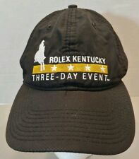 ROLEX KENTUCKY 3 DAY EVENT BLACK POLYESTER BASEBALL CAP HAT HORSE EQUINE NICE