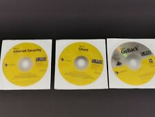 Symantec x 3 - Norton Internet Security Ghost Go Back CD Disk New Sealed + Key