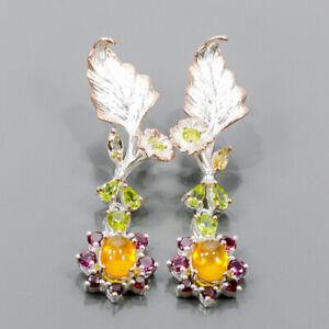 Sweet jewelry Art Sapphire Earrings Silver 925 Sterling   /E57148