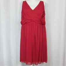 Davids Bridal Bridesmaid Dress Size 20 Red Homecoming Prom Formal Apple