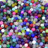 100 Cristales Bolas 4mm Ágata Variados T135C Perline Beads Bijouterie Perlen