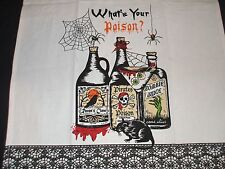 2 What's Your Poison Kitchen Cloths Hand Towels Zombie Pirate Skull Dish Towels