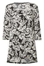 Women's Crew Neck Floral Polyester Tunic, Kaftan Tops & Shirts