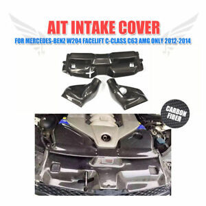 Carbon Fiber Air Filter Intake System Cover Kits for Mercedes Benz W204 C63 AMG