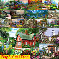Village House Full Drill DIY 5D Diamond Painting Embroidery Cross Stitch Kits